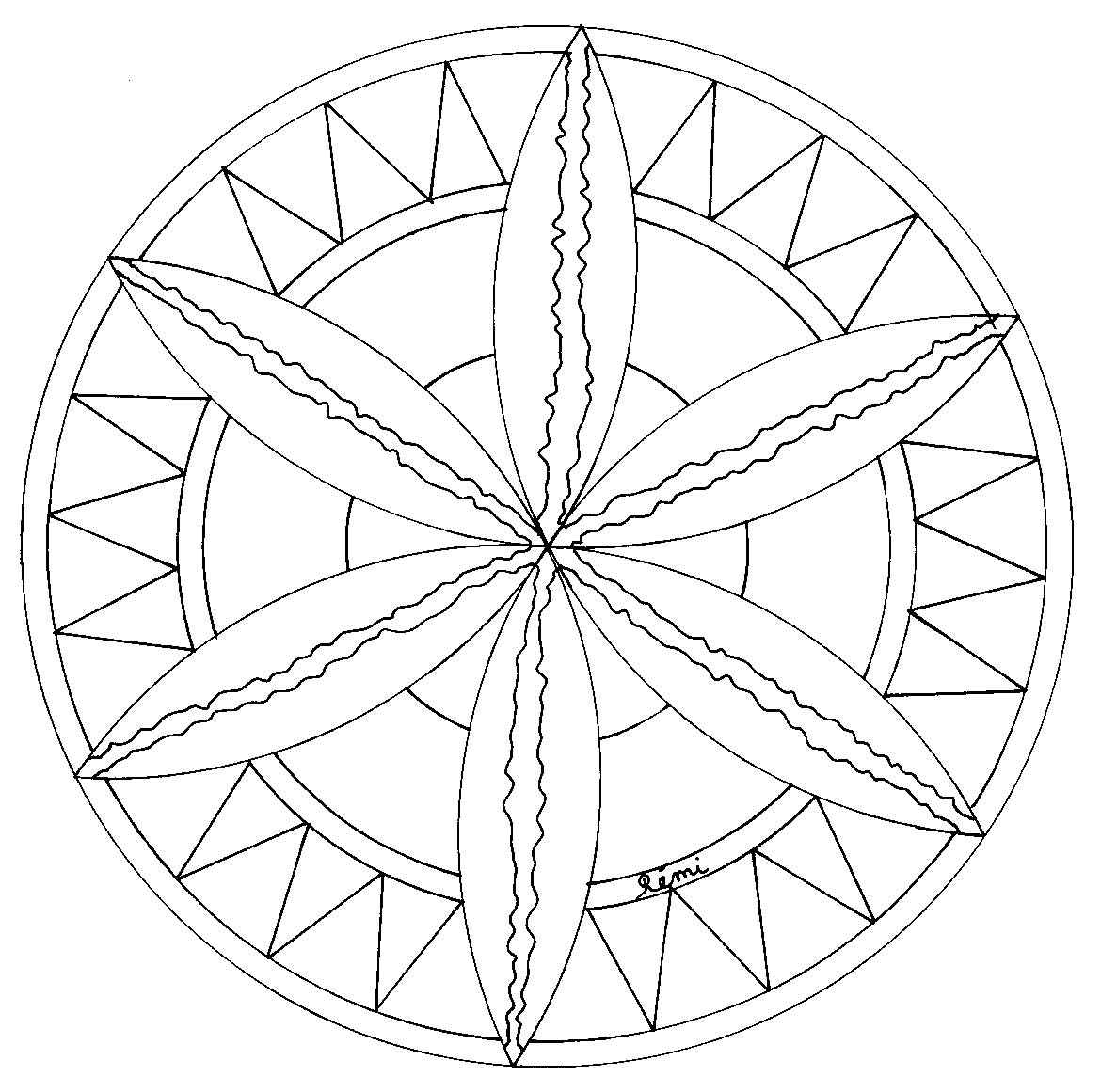 Mandalas rosaces et coloriages - Rosaces a colorier ...